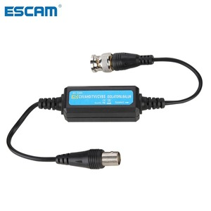 ESCAM HD-TVI/CVI/AHD/CVBS Ground Loop Isolator Video Balun Coaxial BNC Male to Female for Camera(China)