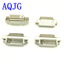 цена на 100pcs DVI 29Pin to PCB 90 Degree Female Connector Plug 24+5 Pin Female socket/Plug/jack for Video Audio display