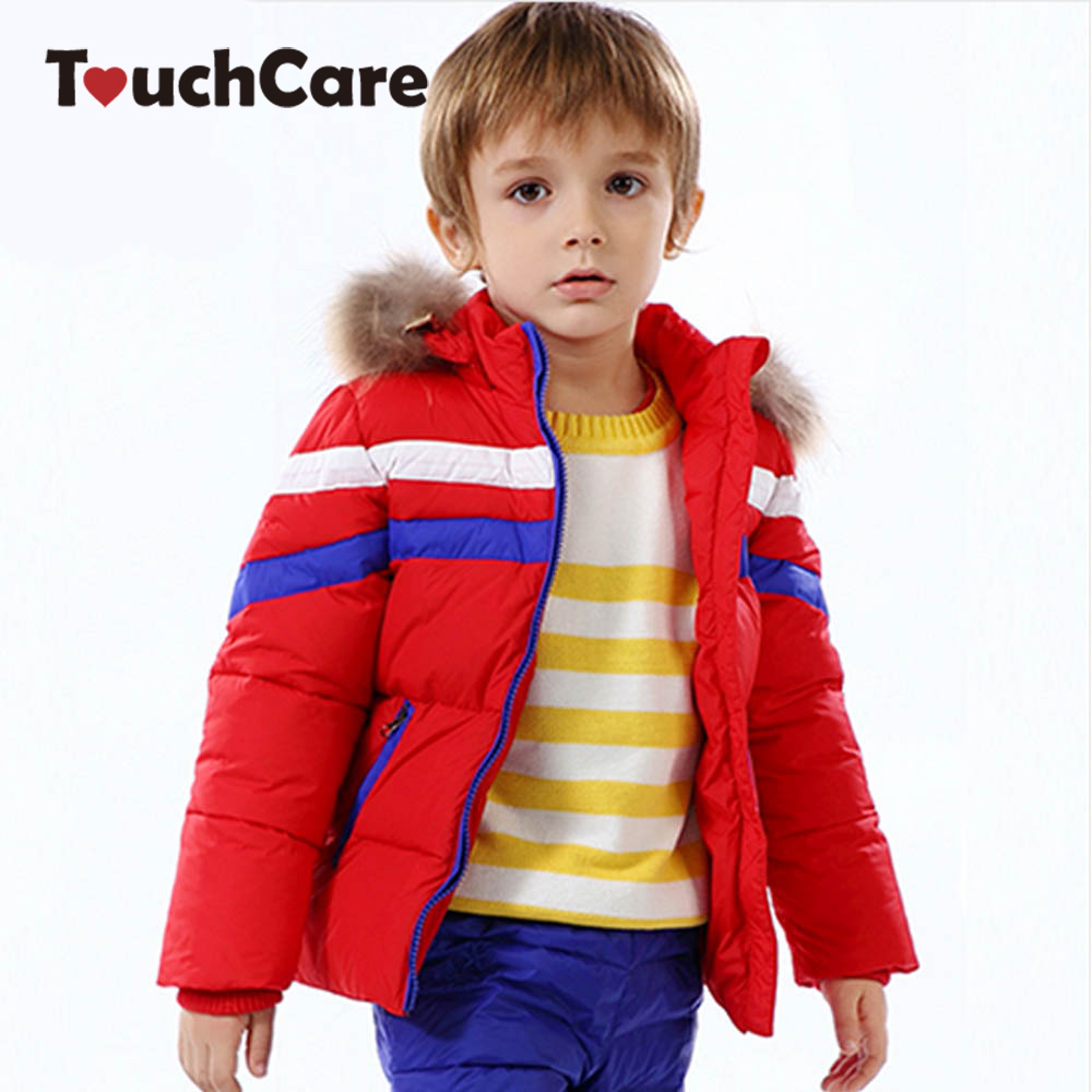 Clearance Winter Warm Duck Down Soft Baby Boys Girls Coat Jacket Hooded Long Sleeve Children Parkas Solid Kid Outerwear Snowsuit