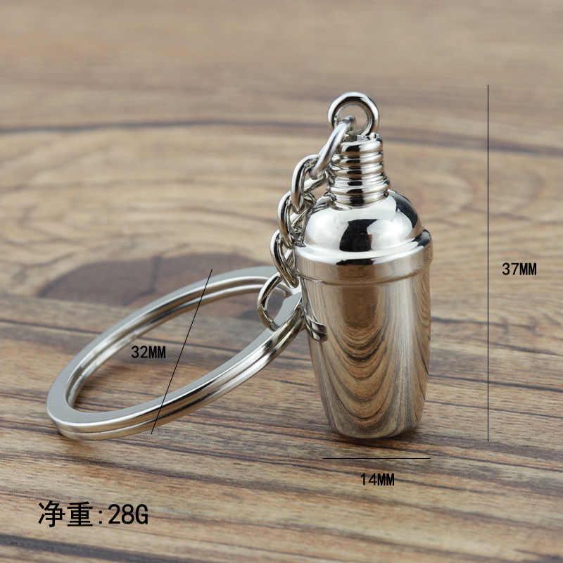 1 قطعة الإبداعية 3D نادل المفاتيح محاكاة القهوة المفاتيح ماكينة القهوة كيرينغ المحمولة Coffeeware اكسسوارات