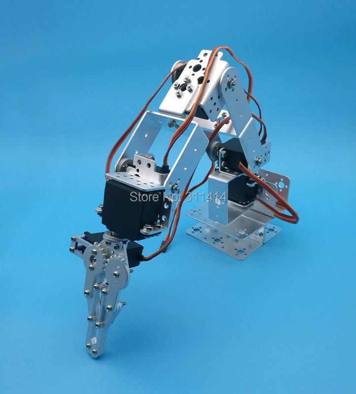 1 مجموعة اردوينو روبوت 6 dof الألومنيوم المشبك المخلب جبل عدة الميكانيكية الذراع الروبوتية و الماكينات و معدنية مضاعفات القرن الفضة أسود اختياري-في شخصيات دمى وحركة من الألعاب والهوايات على  مجموعة 1