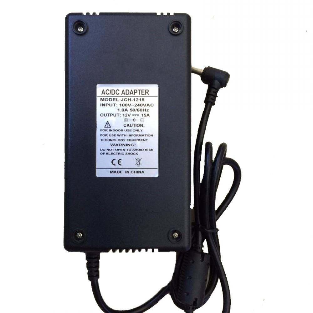 12V 180W LED Power Supply Adapter Driver Transformer ac 100-240v to DC 12V 15A 180W UK/US/EU/AU Plug For LED Strip lights dc power supply 36v 9 7a 350w led driver transformer 110v 240v ac to dc36v power adapter for strip lamp cnc cctv