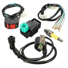 5 шт./компл. проводка Loom Kill Switch Coil CDI Plug Kit 2Pin для 110cc 125cc 140cc Pit Bikeset Dirt Bike ATV