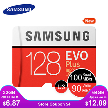 SAMSUNG New Micro SD Memory Card EVO+ 128GB 64GB 32GB 95MB/s 100MB/s C10 SDHC SDXC U1 U3 TF Card 64 G 32 G Cards 100% Original