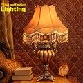 Шоколадный Цвет Европейский Дворец Сельских Смолы И Ткани Гостиной Спальня Тумбочка Лампа 8062