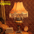 Chocolate Color European Palace Rural Resin And Cloth Parlor Bedroom Bedside Table Lamp 8062