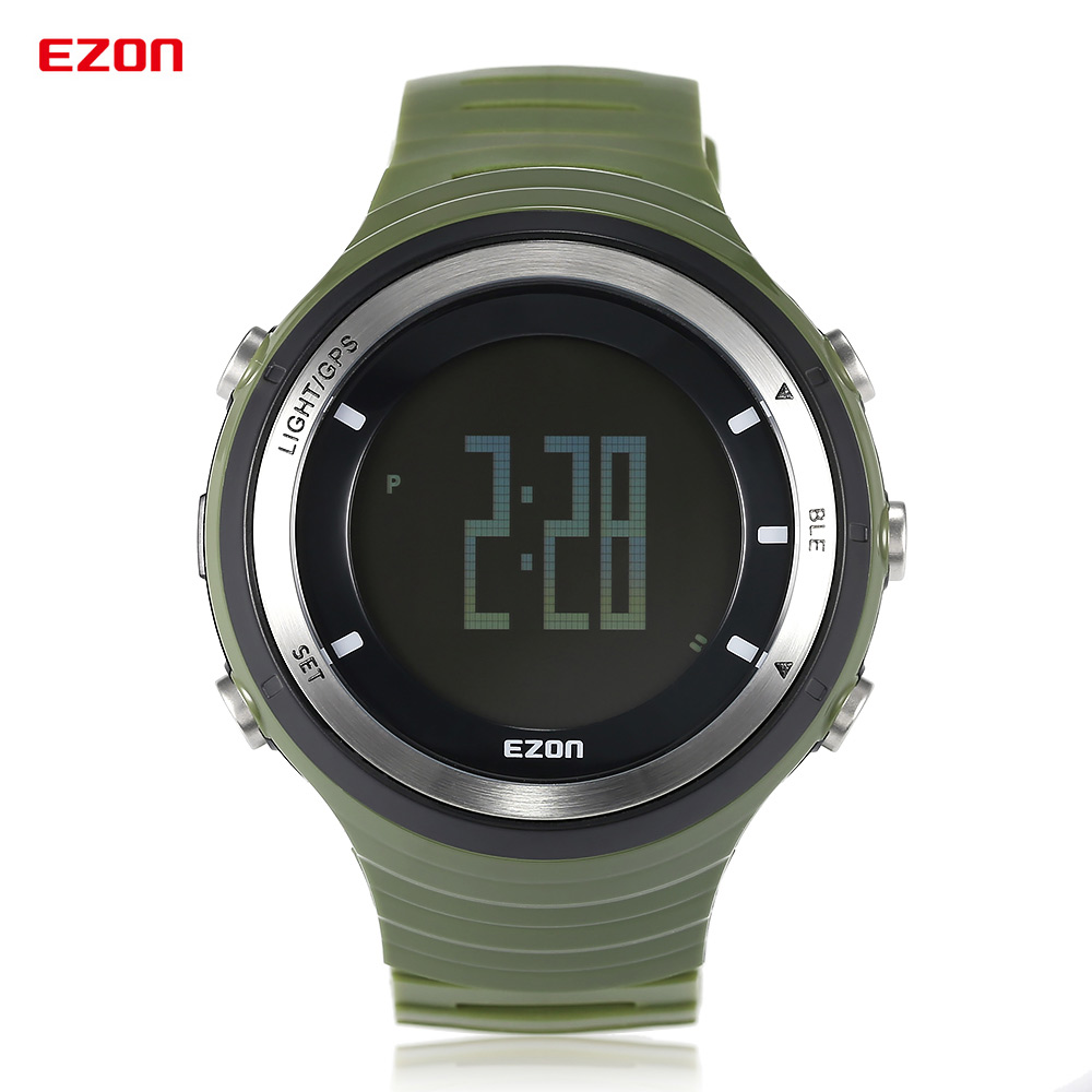 hiking gps ratings promotion shop for promotional hiking gps smart watch ezon multi function gps pedometer bt 4 0 sports watches running hiking rechargeable mens watch 50m waterproof