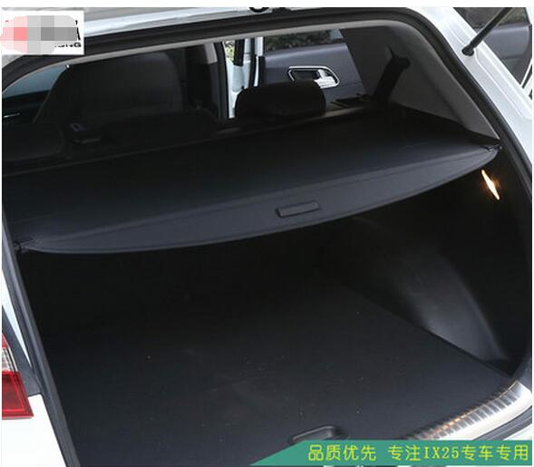 Rear Trunk Security Shield Cargo Cover trunk shade security cover for for  Hyundai  IX25 2014-2018  Displacement 2.0 car rear trunk security shield cargo cover for volkswagen vw tiguan 2016 2017 2018 high qualit black beige auto accessories