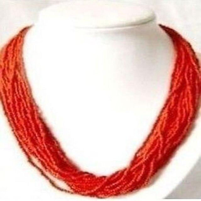 sélection premium 47cf8 ae19c € 26.38 |Chaud! Collier de corail rouge en argent F48FDG dans Ras du cou de  Bijoux et Accessoires sur AliExpress.com | Alibaba Group
