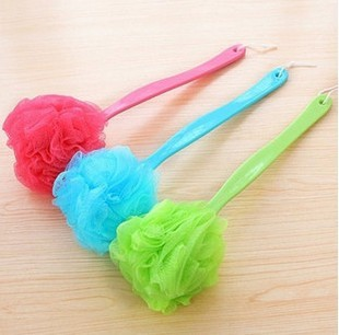 Colorful long-handled scrub Zaoyu be hanging bath ball hanging ball back brush can brush Chopping Cuozao