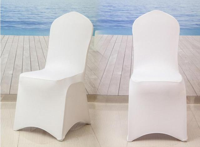 99100pcslot Hotel In Housse De Chaise Mariage Covers Us231 Cover Banquet Stretch Polyester Universal Chair Wedding Party White YEH9IWD2