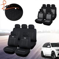LARATH Sports Car Seat Covers Universal Fit Most Brand Vehicle Seats Car Seat Protector Black Seat