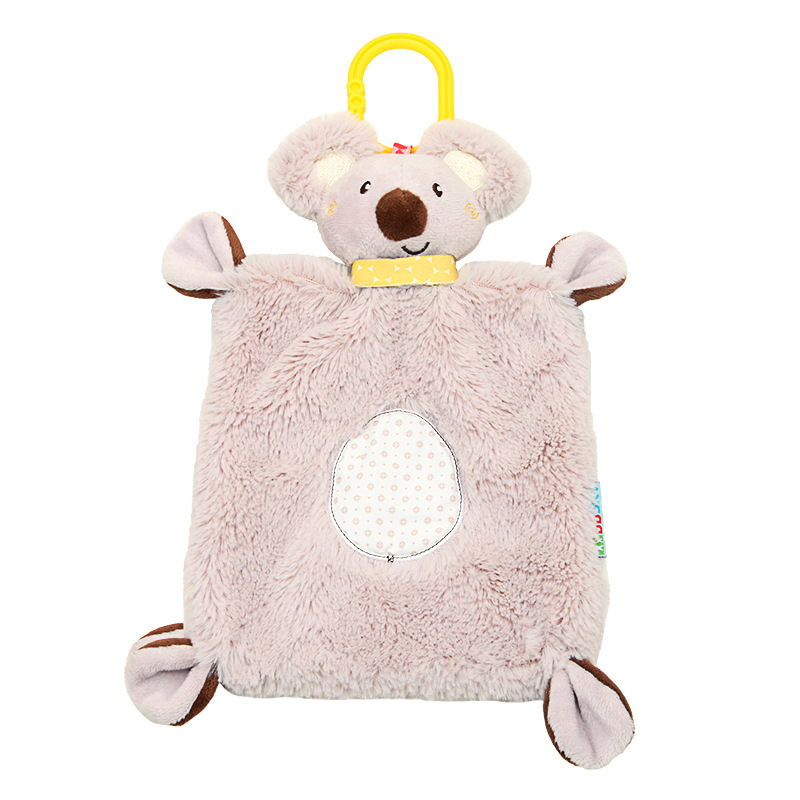 Plush Soothing Toys Baby Rattle Bell Infant Security Blanket Baby Toy Towel Snuggle Newborn Koala Comforter Towels For Baby Care