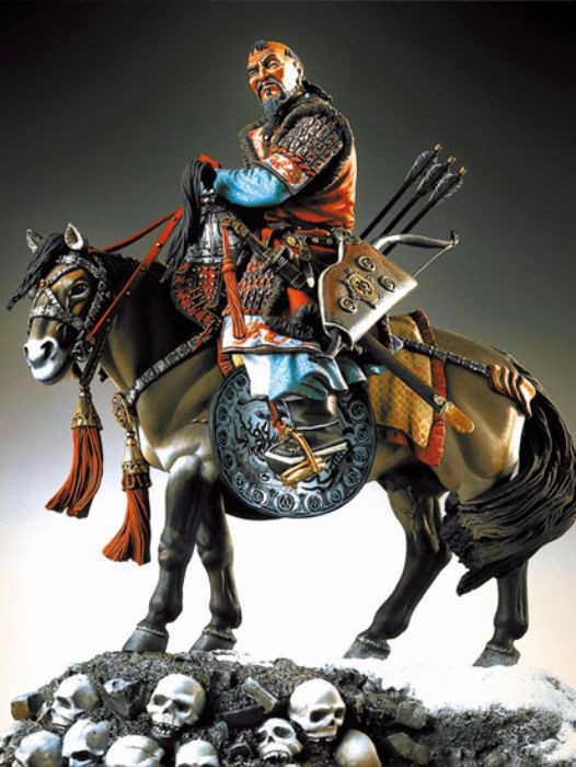 Resin Kits 1 20 Scale 1 20 90mm Genghiz Khan XIII c soldiers Resin Model DIY