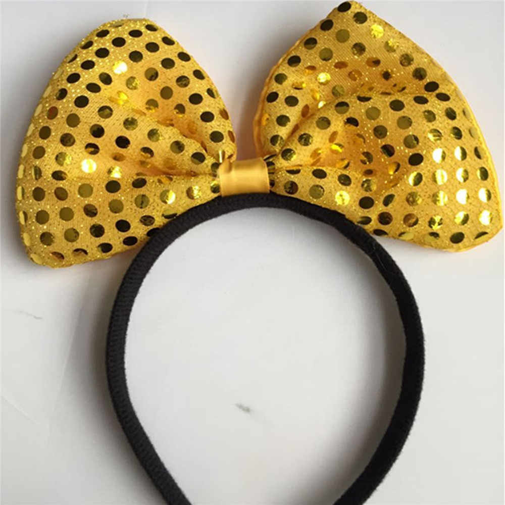 Headwear Hairband Sequin Bowknot Headband Birthday Party Girls Accessories\