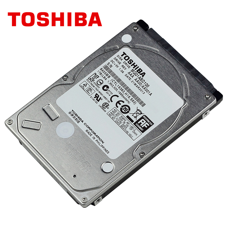 TOSHIBA Laptop 1TB Hard Drive Disk 1000GB 1000G HDD HD 2.5 5400RPM 8M SATA2 Original New for Notebook new and retail package for 454273 001 mb1000ecwcq 1 tb 7 2k sata 3 5inch server hard disk drive 1 year warranty