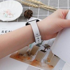 Image 5 - Duszake Armband Für Fitbit Versa/Versa Lite Starp Weiche Silikon Dünne Dünne Schmale Ersatz Band Für Fitbit Versa Frauen männer