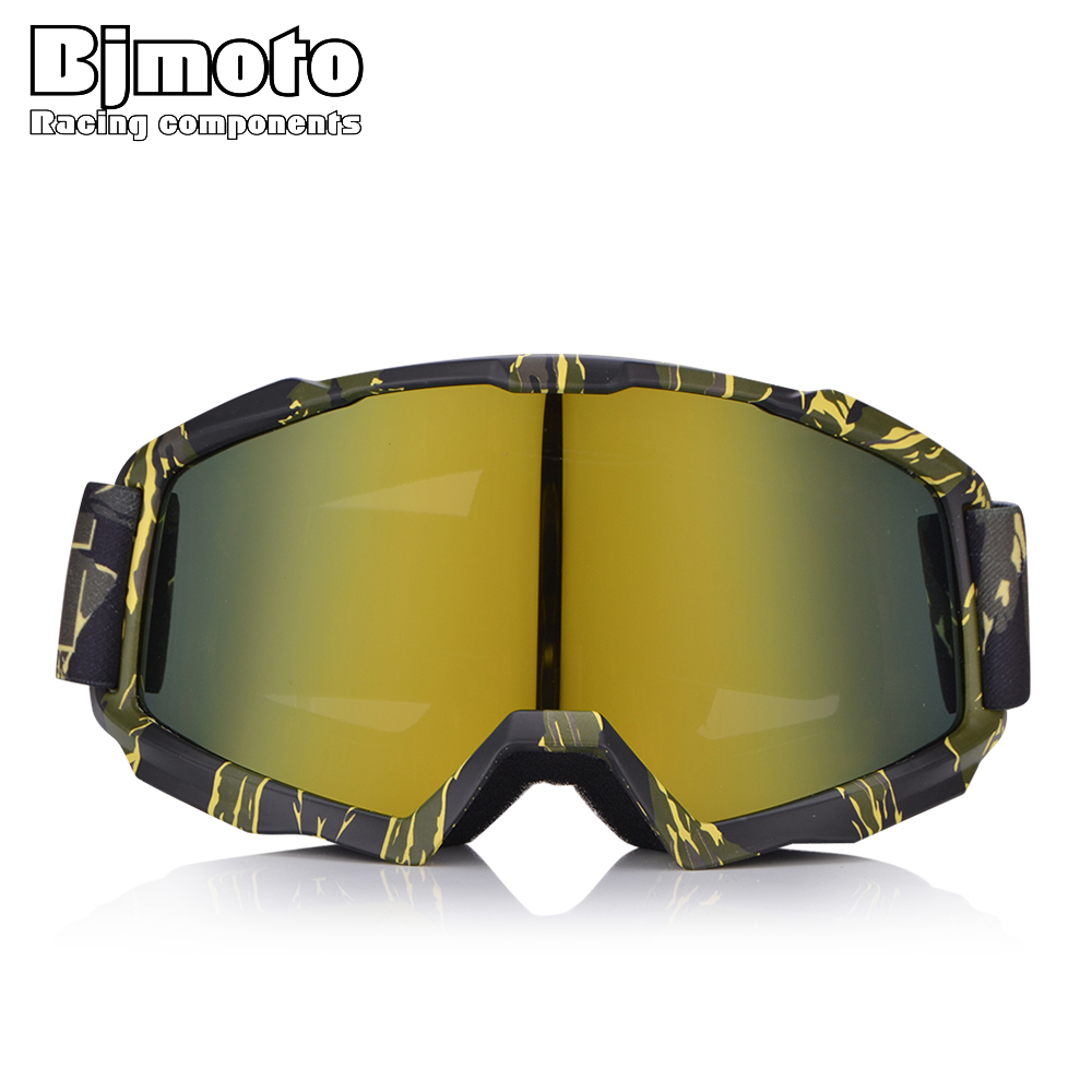 BJMOTO Retro Motorcycle Glasses Double Lens Outdoor Ski Racing Motocross Goggles Off Road Helmet Sport Gafas For Dirt Bike