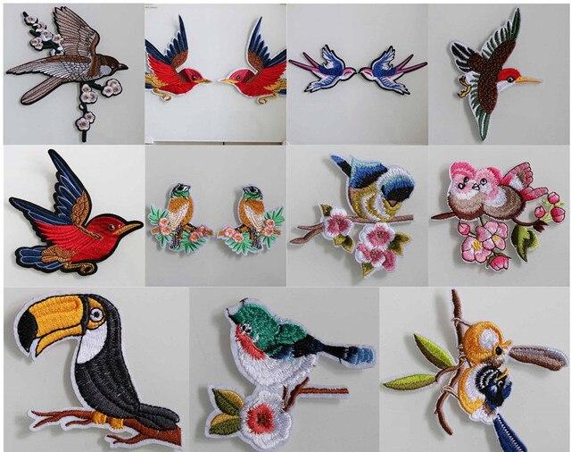 Borlas del bordado hecho a mano accesorios de ropa applique coser o  pegamento colorido animal pájaros 1 par H178 en Diamantes de Imitación de  Hogar ...