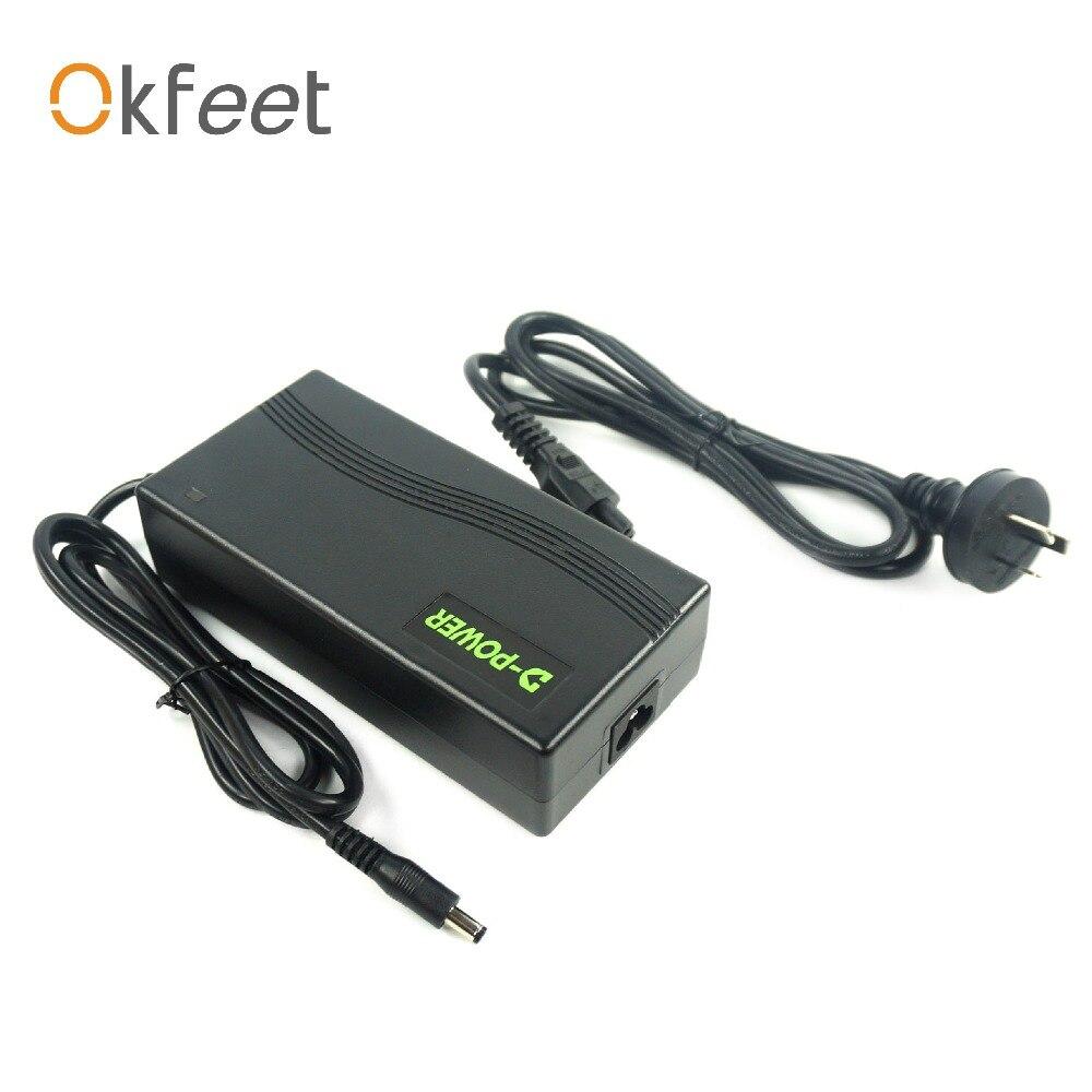 okfeet EU JAN AU D power high quality Li ion Battery Charger Output 36V48V 2A 3A