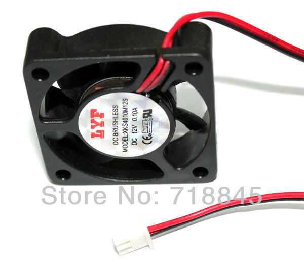 10 PCS / lot Hitam 2 Pin 12 V 40mm x 10mm 4010 Brushless DC Fan PC Pendingin Cooler Fan