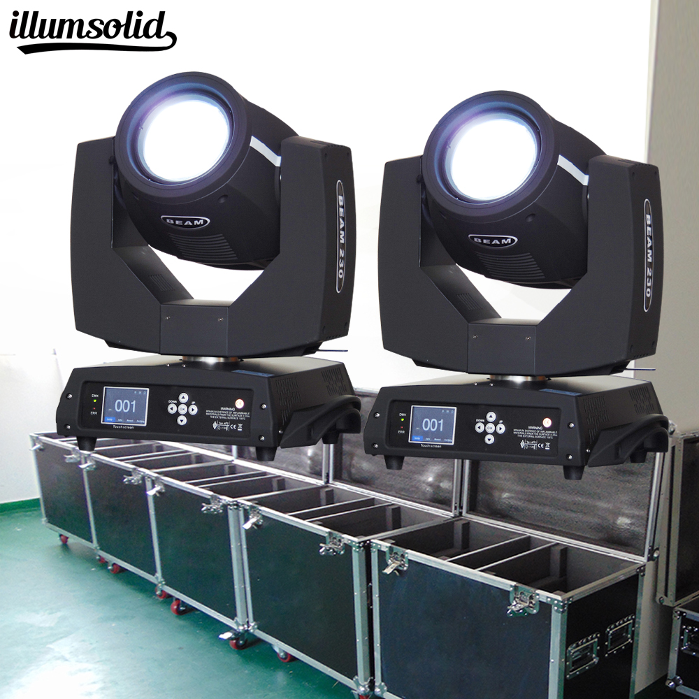 flight cases DJ 7r 230w <font><b>beam</b></font> Moving Head lighting DJ Stage Lighting Clamp Disco Lights for Party(2Pcs With Flight Case) image