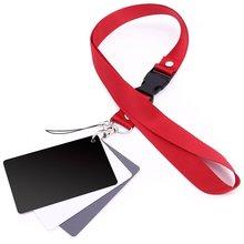 Kaliou 3 in 1 Zakformaat Wit Zwart Grijs Balance Card Grijs Kaart met Neck Strap Touw voor Digitale camera Photo Studio