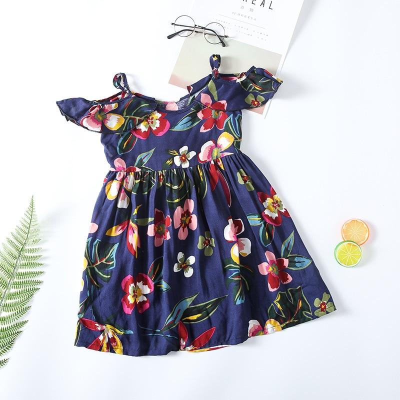 3b4f93f6b24f little girl floral print summer dress 2018 teenagers dress big girls ...