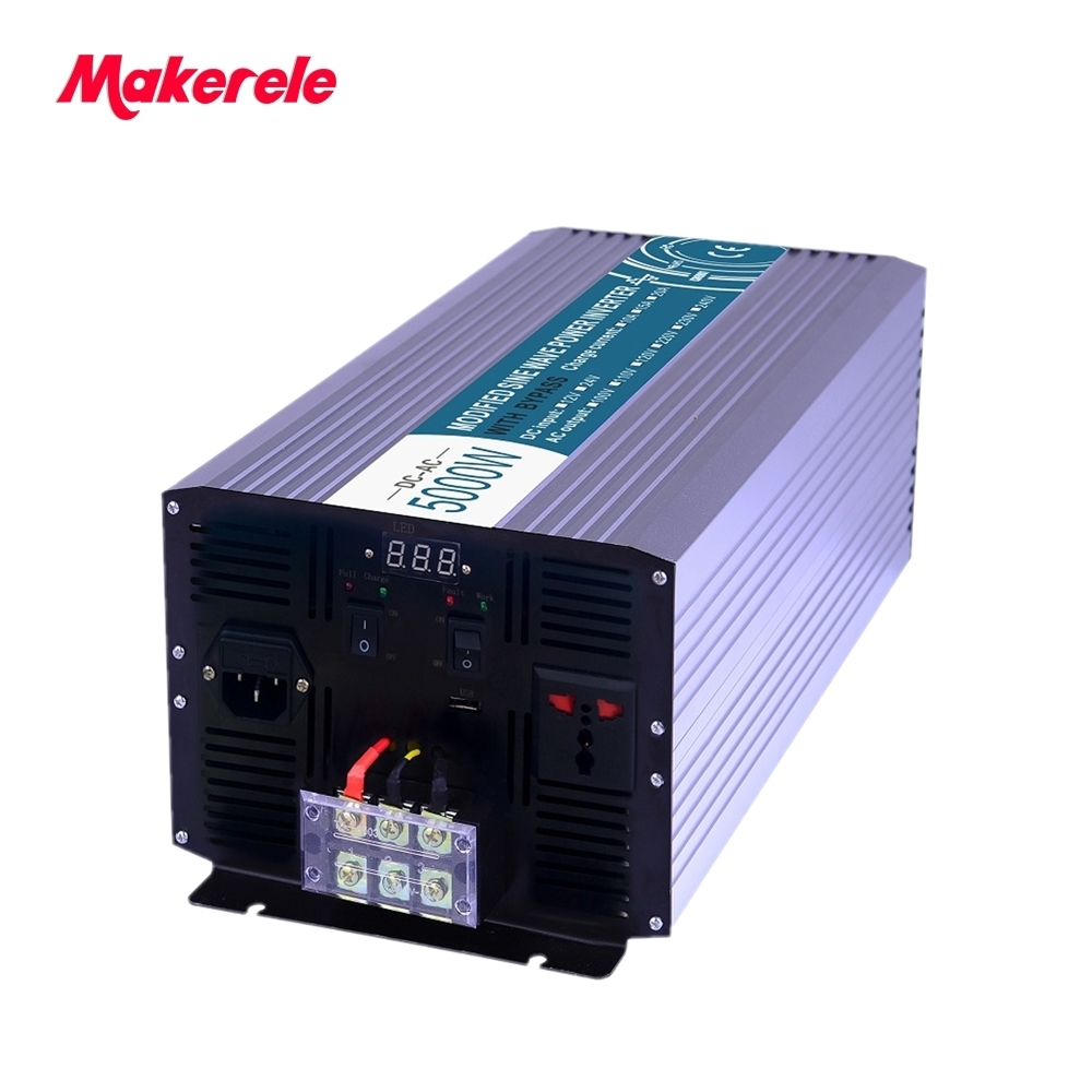 Pure Sine Wave off grid inverter with charger 5000w 12v to 220v solar inverter voltage converter MKP5000-122-C high quality mkp5000 481 pure sine wave solar inverter off grid 5000w 48v to 110v voltage converter led display inversor china