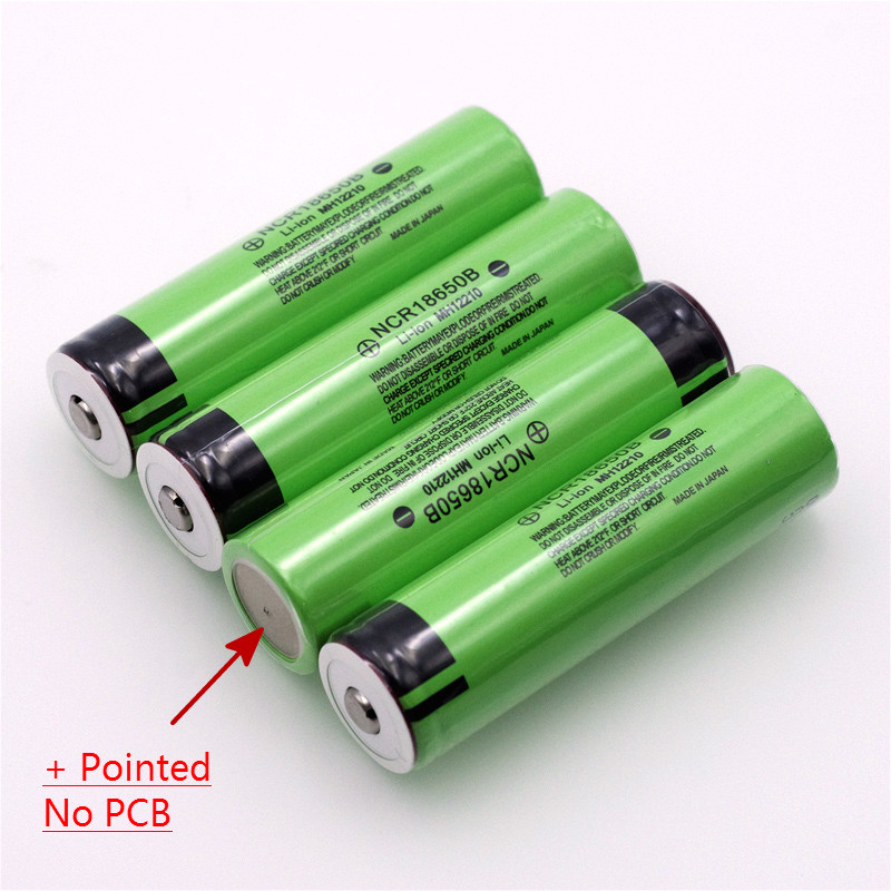 VariCore Original 18650 3 7 v 3400 mah Lithium Rechargeable Battery NCR18650B with Pointed No PCB For flashlight batteries in Replacement Batteries from Consumer Electronics
