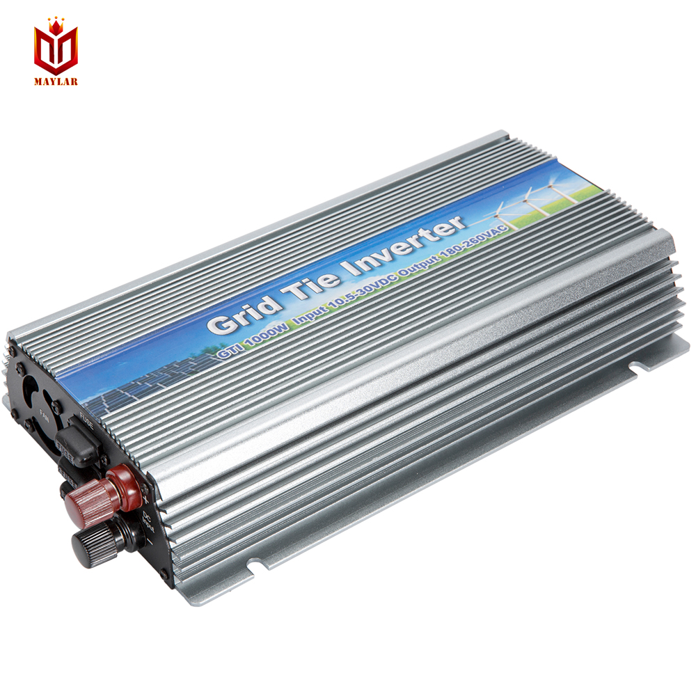 MAYLAR@1000W Solar High Frequency Pure Sine Wave MPPT Grid Tie Inverter,input 22-50VDC Output 180-260VAC, For Alternative Energy maylar maysun1200w solar grid tie micro inverter with 4 mppt function output pure sine wave100v 240vac