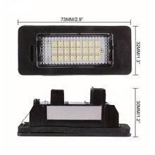 2 шт./компл. багажник автомобиля светодио дный Подсветка регистрационного номера 24 светодио дный s лампа для BMW E39 E60 E90 X серии стайлинга автомобилей