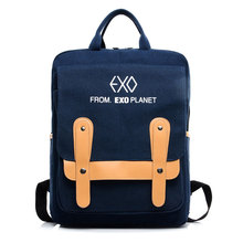 New Exo Canvas Bags Casual Men's Backpacks Famous Brand  bag 4 Colors Black/Green Women Schoollbag