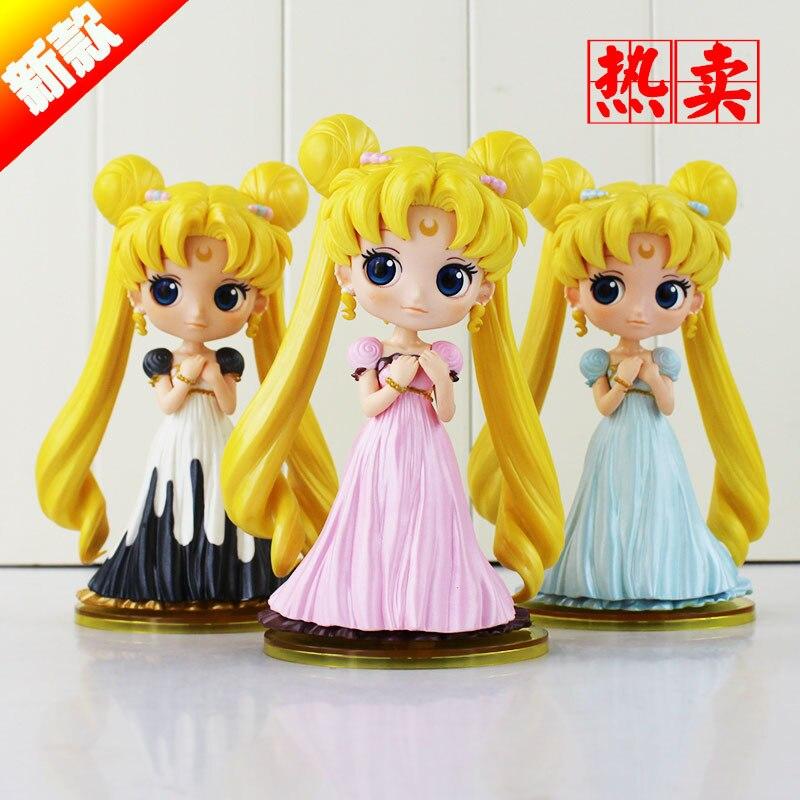 2016 Cute Sailor Moon Q Posket Tsukino Usagi Princess Serenity PVC Action Figure Collection Model Toy 15cm serenity