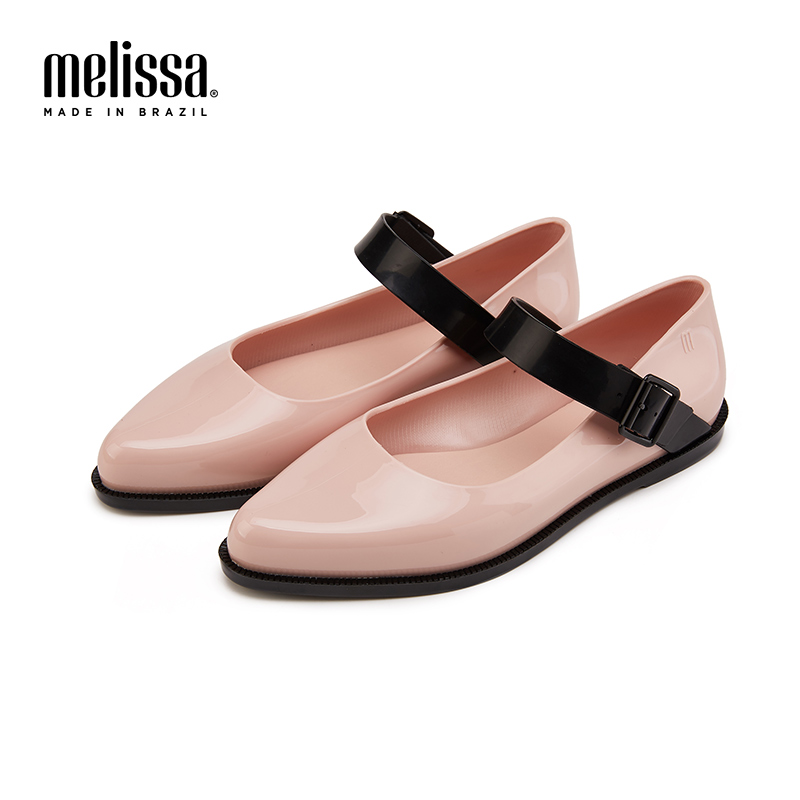 Melissa Mary Jane 2019 New Women Flat Sandals Brand Jelly Melissa Shoes For Women Solid Sandals Female Jelly Shoes Mulher
