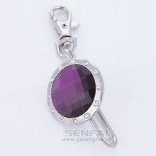 SENFAI Senfai Nuevo Diseño Famoso de la Marca Llavero Venta Caliente Popular Purple Rhinestone Llaveros Llavero para las Llaves