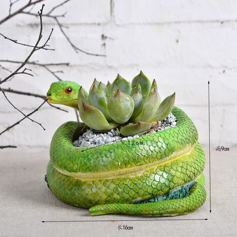 Creative Snake Vase Garden Decor Flower Vase Flower Pots Planters Terrible Gift