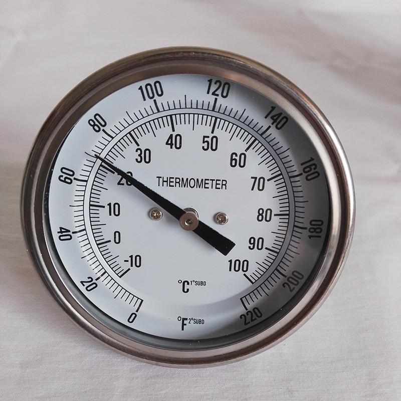 """1/2 """"BSP Bimetāla termometrs Sākums Brew Dial 3"""" 0-220F Alus brūvēšanas masas biezums Temperatūras vārīšanas tvertnes temperatūras mērītājs metināms Kettl"""
