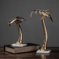 Free Shipping Decorative Craft Resin Figure Statue Retro Simulation Coconut Tree Sculpture Arts Modern Decoration For Home Decor