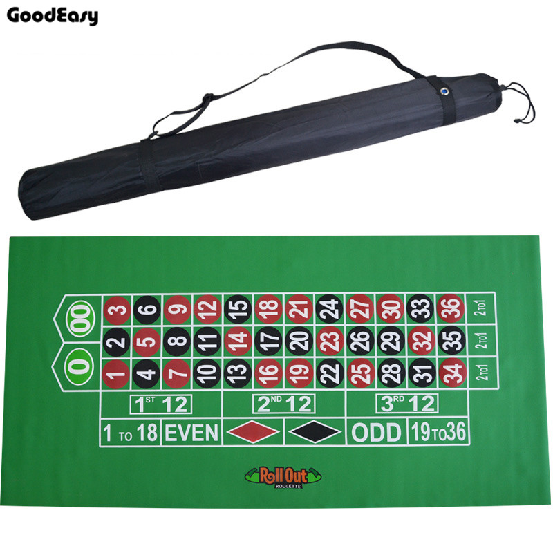 183*90Cm Suede Rubber Square Green Roulette Black Jack Poker Table Mat Poker Gaming Table Cloth Board Cloth with Shoulder Bag