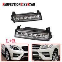 1649060151 1649060251 Pair Front Left Right LED Daytime Running Light DRL For Mercedes W164 ML450 GL450 GLK350 2010 2012
