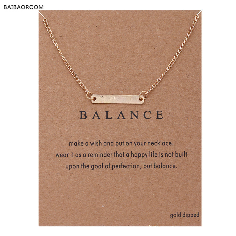 Hot Sale Sparkling Horizontal bar Pendant necklace gold-color Clavicle Chains Statement Necklace Women Jewelry(Has card)