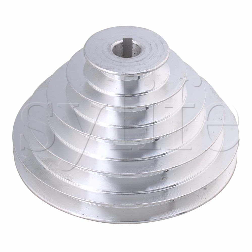 5x  plastic sheave V-belt pulley 18mm white timing pulley for DIY