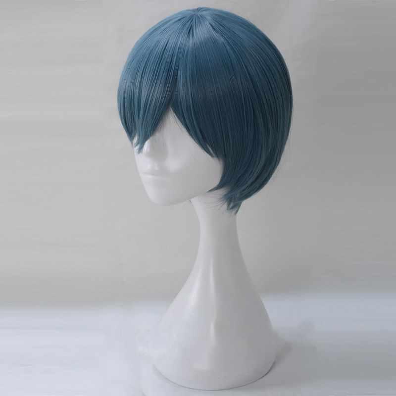 Negro Butler Ciel azul oscuro cabello corto sintético de Halloween juego pelo para adultos