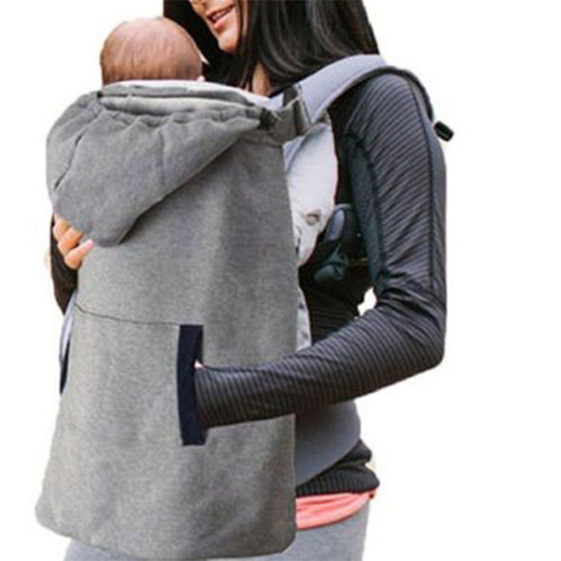 Hooded Baby Carrier Cover Coat Baby Sling Wrap Warm Mantle Infant Windproof Backpack Carrier Cloak For Winter