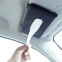 1pcs Top Quality Car Sun Visor Hanging Leather Tissue Boxes For Audi A1 A3 A4 A5