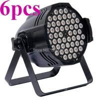 6pcs/lot 54*3W LED PAR Light RGB 3in1 par can dmx stage effect lighting disco bar night club lighting