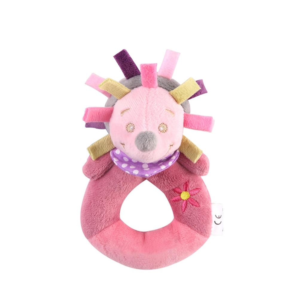 Детские погремушки Fulljion, развивающие игрушки для детей, Прорезыватель для зубов, Колокольчик для малышей, детская коляска, подвесные куклы - Цвет: hedgehog