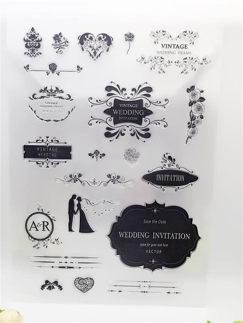 wanted wedding design for Transparent Clear Stamp DIY Silicone Seals Scrapbooking Photo Album craft CL-321 jay park 3rd album everything you wanted release date 2016 10 25