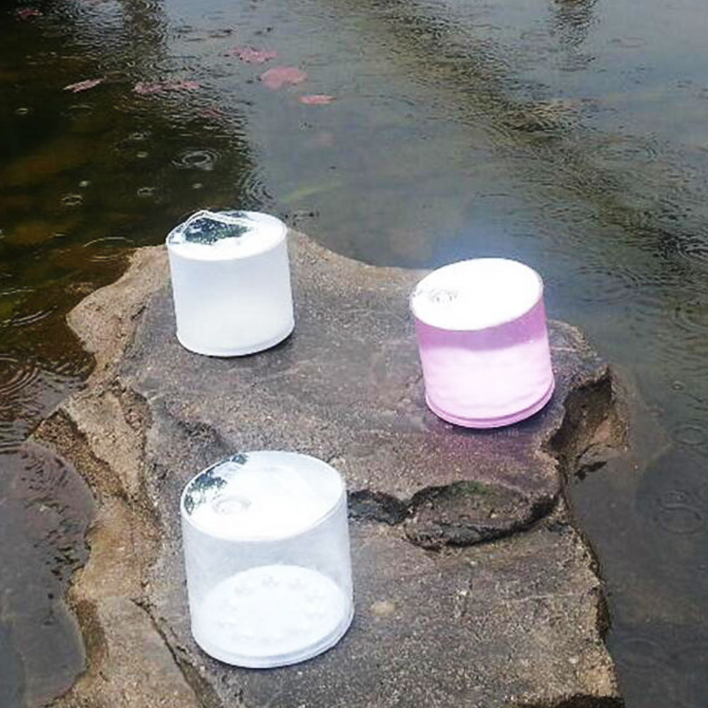 Convenient Foldable Camping Lamp Lantern PVC LED 1.5W Fishing Hiking Lighting Fixture Outdoor Supply Emergency Accessory Durable